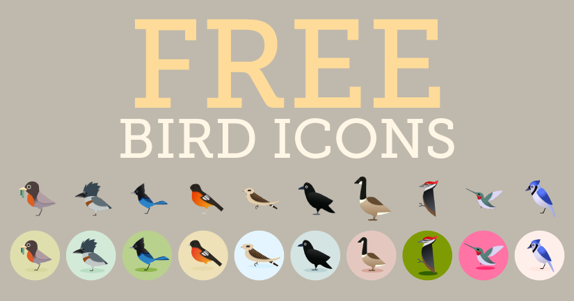 Bird Icons Set 1